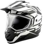 GMAX GM11 Vertical Snow Adventure Touring Helmet (Flat Black/White)