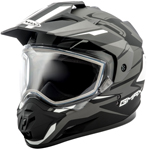 GMAX GM11 Vertical Snow Adventure Touring Helmet (Flat Black/Silver)
