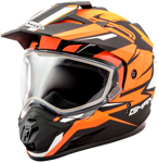 GMAX GM11 Vertical Snow Adventure Touring Helmet (Flat Black/Hi-Vis Orange)
