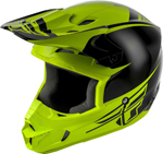 Fly Racing MX Motocross Kids Youth Kinetic Sharp Helmet (Gloss Black/Hi-Vis)