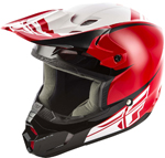 Fly Racing MX Motocross Kids Youth Kinetic Sharp Helmet (Gloss Red/Black)