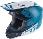 Fly Racing MX Motocross Kids Youth Kinetic Sharp Helmet (Gloss Teal/Blue)