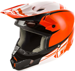Fly Racing MX Motocross Kids Youth Kinetic Sharp Helmet (Gloss Orange/Black)