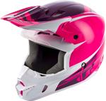 Fly Racing MX Motocross Kinetic Sharp Helmet (Gloss Pink/White)