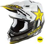 Fly Racing MX Motocross F2 Carbon MIPS Rockstar Helmet (Gloss Black/White)