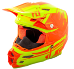 Fly Racing 2018 F2 CARBON Forge Cold Weather Helmet (Hi-Vis/Orange)