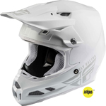 Fly Racing MX Motocross F2 Carbon MIPS Solid Helmet (Gloss White)