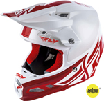 Fly Racing MX Motocross F2 Carbon MIPS Shield Helmet (Gloss White/Red)