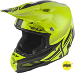 Fly Racing MX Motocross F2 Carbon MIPS Shield Helmet (Gloss Hi-Vis/Black)