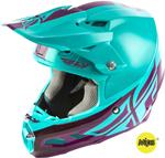 Fly Racing MX Motocross F2 Carbon MIPS Shield Helmet (Gloss Seafoam/Port)