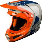Fly Racing MX Motocross Formula Origin Helmet w/AIS (Gloss Grey/Orange/Blue)