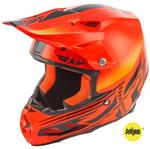 Fly Racing MX Motocross F2 Carbon MIPS Cold Weather Shield Helmet (Gloss Hi-Vis/Orange)