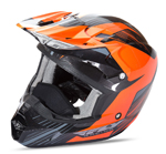 FLY RACING Snow Snowmobile 2017 Kinetic Pro Cold Weather Helmet (Orange/Black)