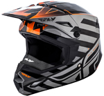 Fly Racing 2018 ELITE Interlace Cold Weather Helmet (Orange/Grey/Black)