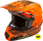Fly Racing MX Motocross Kids Youth Toxin MIPS Cold Weather Embargo Helmet (Gloss Neon Orange/Black)