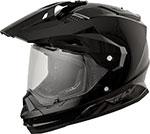 Fly Racing Dual Sport Adventure Touring - TREKKER Helmet (Black)
