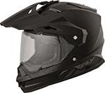 Fly Racing Dual Sport Adventure Touring - TREKKER Helmet (Matte Black)