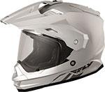 Fly Racing Dual Sport Adventure Touring - TREKKER Helmet (Silver)