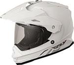 Fly Racing Dual Sport Adventure Touring - TREKKER Helmet (White)