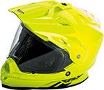 Fly Racing Dual Sport Adventure Touring - TREKKER Helmet (Hi-Vis Yellow)