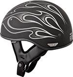 FLY .357 Motorcycle Half Helmet (Grey Flame)