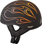 FLY .357 Motorcycle Half Helmet (Orange Flame)
