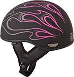 FLY .357 Motorcycle Half Helmet (Pink Flame)