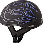 FLY .357 Motorcycle Half Helmet (Purple Flame)