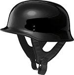FLY 9MM Motorcycle Half Helmet (Gloss Black)