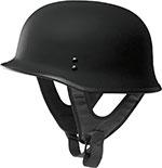 FLY 9MM Motorcycle Half Helmet (Flat Black)