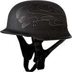 FLY RACING 9mm German WWII Style Half Helmet (Ghost/Skull)