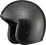 FLY Street - .38 Retro Open Face Motorcycle Helmet (Black Metal Flake)