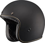 FLY Street - .38 Retro Open Face Motorcycle Helmet (Matte Black)