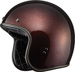 FLY Street - .38 Retro Open Face Motorcycle Helmet (Root Beer Metal Flake)