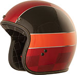 FLY Street - .38 Winner Retro Open Face Motorcycle Helmet (Red/Black/Orange)