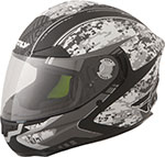 FLY Street - LUXX Camo Full-Face Motorcycle Helmet (Grey)