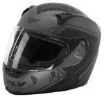 FLY STREET 2017 REVOLT FS PATRIOT Full-Face Motorcycle Helmet (Flat Grey/Black)