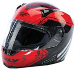 FLY STREET 2017 REVOLT FS PATRIOT Full-Face Motorcycle Helmet (Red/Black)