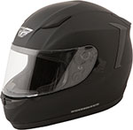 FLY Street - CONQUEST Full-Face Motorcycle Helmet (Flat Black)