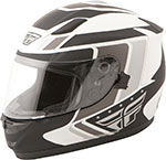 FLY Street - CONQUEST Retro Full-Face Motorcycle Helmet (Matte White/Black/Grey)