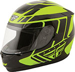 FLY Street - CONQUEST Retro Full-Face Motorcycle Helmet (Hi-Vis Yellow/Black)