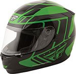 FLY Street - CONQUEST Retro Full-Face Motorcycle Helmet (Green/Black)