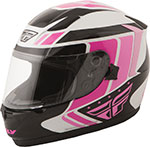 FLY Street - CONQUEST Retro Full-Face Motorcycle Helmet (Pink/Black/White)