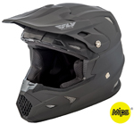 Fly Racing Kids TOXIN Resin MIPS Helmet (Matte Black)