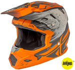 Fly Racing Kids TOXIN Resin MIPS Helmet (Matte Orange/Khaki)