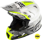 Fly Racing MX Motocross Kids Youth Toxin MIPS Embargo Helmet (Gloss White/Black)