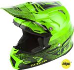 Fly Racing MX Motocross Toxin MIPS Embargo Helmet (Gloss Neon Green/Black)