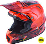 Fly Racing MX Motocross Kids Youth Toxin MIPS Embargo Helmet (Gloss Neon Red)