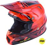 Fly Racing MX Motocross Toxin MIPS Embargo Helmet (Gloss Neon Red)
