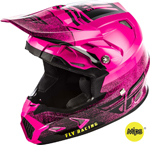 Fly Racing MX Motocross Toxin MIPS Embargo Helmet (Gloss Neon Pink/Black)